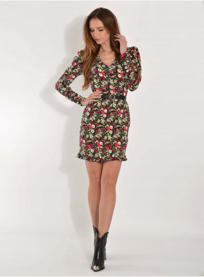 Sukienka wiskozowa Alisa w kwiaty