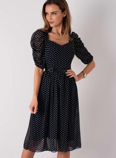 Sukienka szyfonowa w groszki
