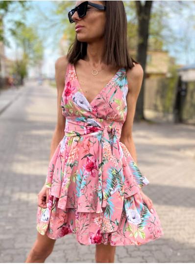Sukienka z wiskozy na ramiączkach