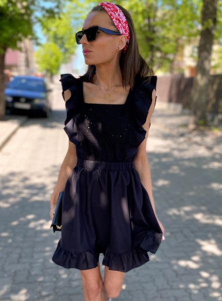 Sukienka bawełniana z haftem