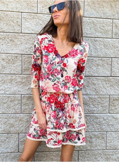 Wiskozowa sukienka Bali z gipiurą