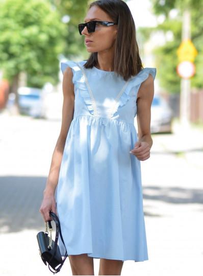 Sukienka bawełniana Allys z gipiurą