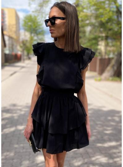 Sukienka Tiffi z bawelny czarna