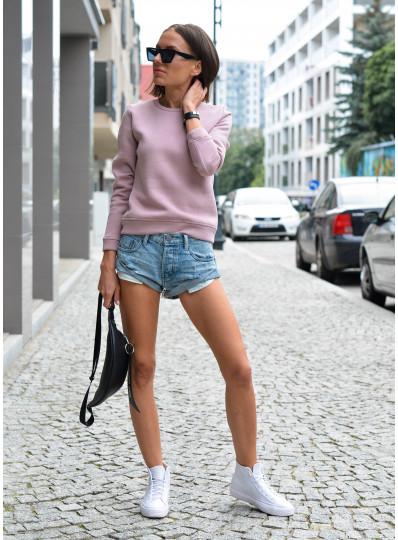 Bluza basic liliowa