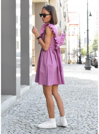 Sukienka Amber z wiązaniem z tyłu liliowa