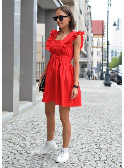 Sukienka Amber z wiązaniem z tyłu czerwona