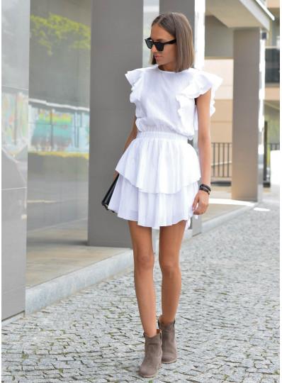 Sukienka Tiffi z bawelny biała