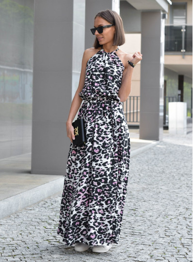 Sukienka Corina maxi w panterkę