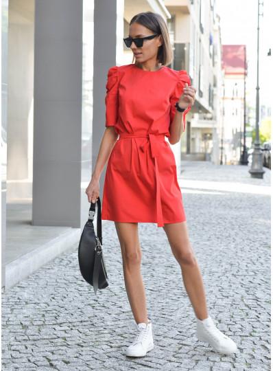 Sukienka Alma z popeliny czerwona