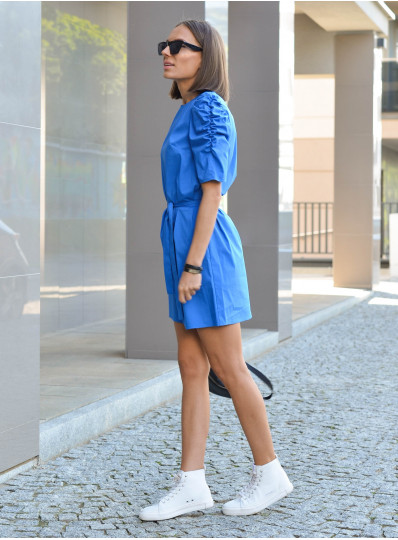 Sukienka Alma z popeliny niebieska