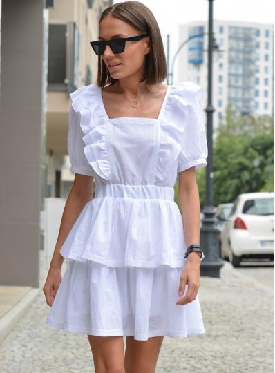 Sukienka  z gipiurą biała