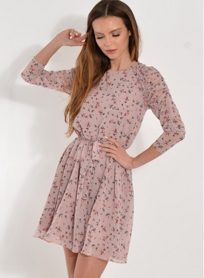 Sukienka Carine szyfonowa z reglanem