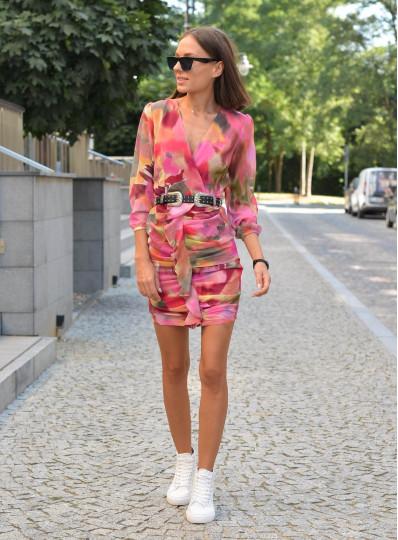 Sukienka multi-kolor