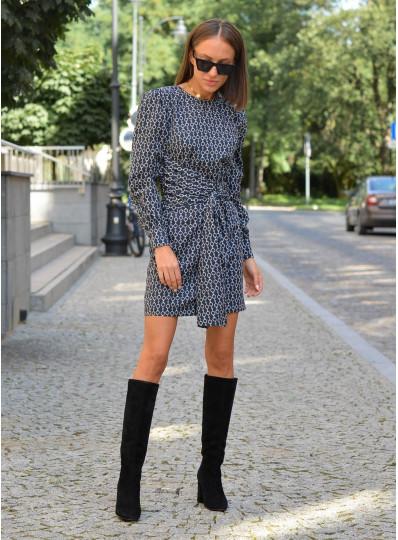 Sukienka Emira z szerokim wiązaniem