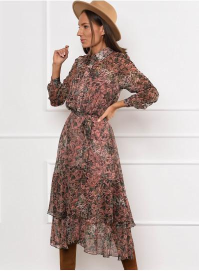 Sukienka Malena z asymetrycznym dołem