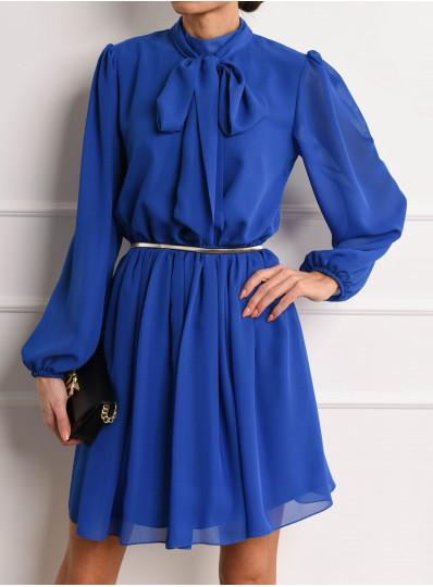 Szyfonowa sukienka Elina z wiązaniem