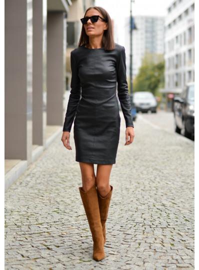 Sukienka woskowana czarna