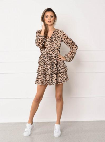 Sukienka w panterke z szyfonu