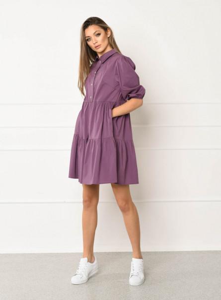 Sukienka Alija z popeliny fioletowa