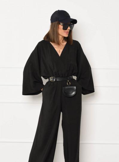 Kombinezon typu kimono czarny