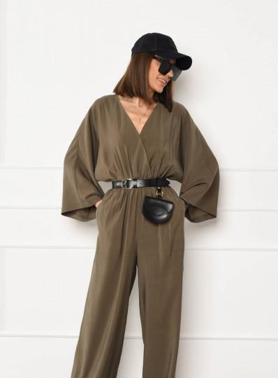Kombinezon typu kimono khaki