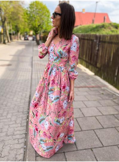 Sukienka Konstancja maxi z wiskozy