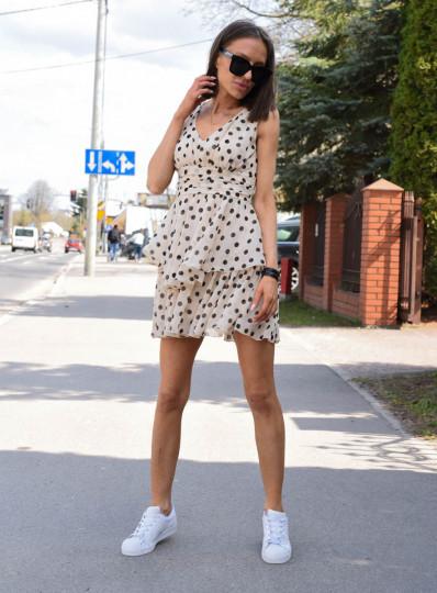 Sukienka szyfonowa w grochy