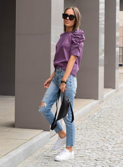 Bluzka Alma z popeliny fiolet