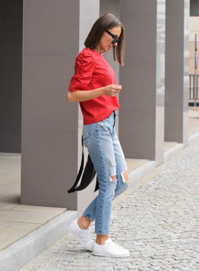 Bluzka Alma z popeliny czerwona