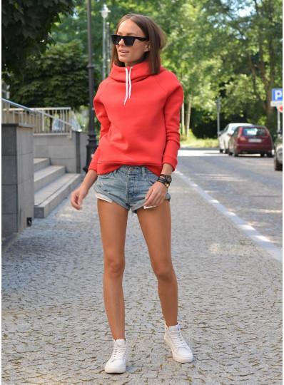 Bluza z kapturem czerwona