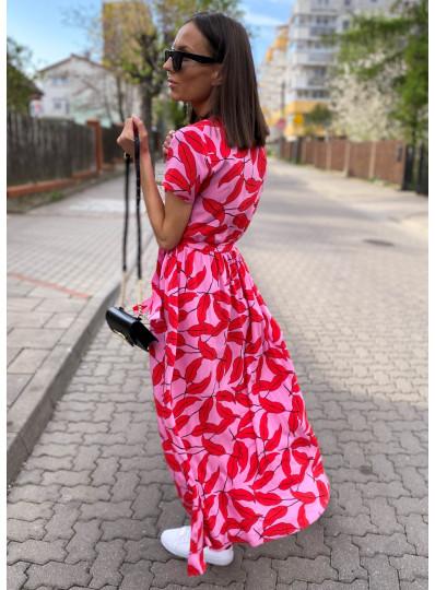 Sukienka z kopertowym przodem PRZEDSPRZEDAŻ