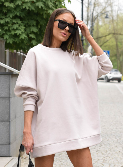 Bluza oversize krem