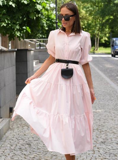 Sukienka Alija maxi z popeliny jasny róż