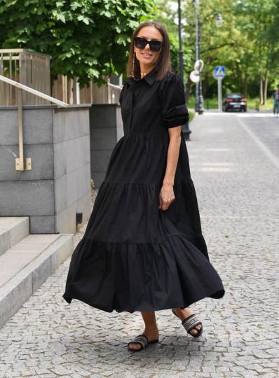 Sukienka Alija z popeliny czarna