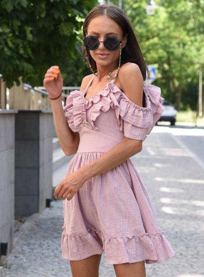 Sukienka z muślinu na ramiaczkach