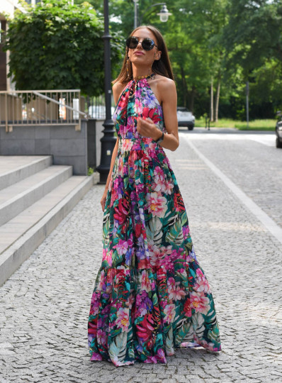 Sukienka Roxi maxi w kwiaty