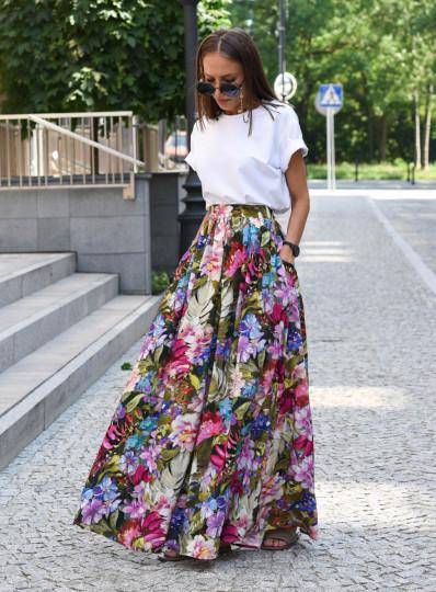 Spódnica maxi w kwiaty