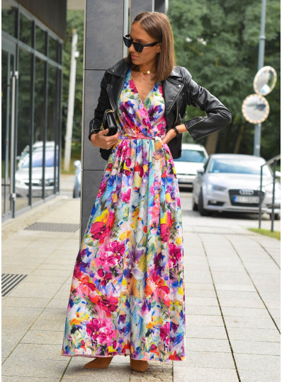 Sukienka Selma z długim rękawem