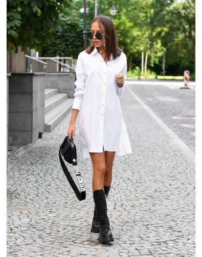 Długa koszula o luźnym kroju