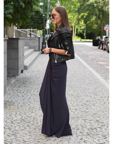 Spódnica Kajla z dzianony wiskozowej grafitowa