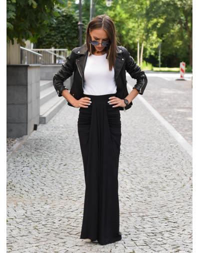 Spódnica Kajla z dzianiny wiskozowej czarna