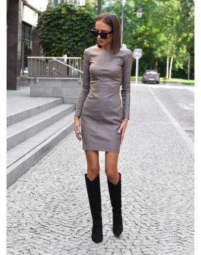 Sukienka woskowana szara