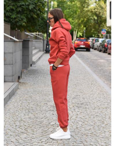 Spodnie dresowe cranberry
