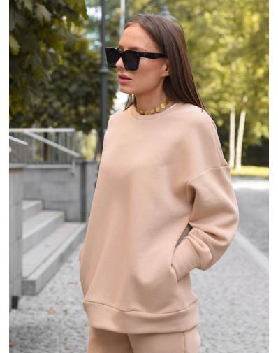 Bluza oversize beż