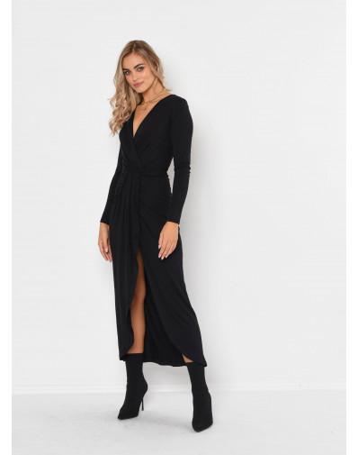Sukienka SAMANTHA z dzianiny wiskozowej czarna