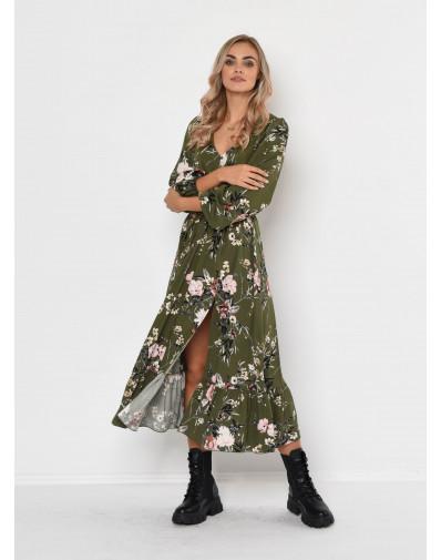 Sukienka MARCELINA khaki